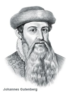 Who Invented The Printing Press Name Of Person Credited With Inventing Is Johannes Gutenberg C1400